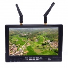 RC732-DVR 7'' 5.8GHz 32CH HD Diversity Receiver FPV Monitor Built-in Battery - Black