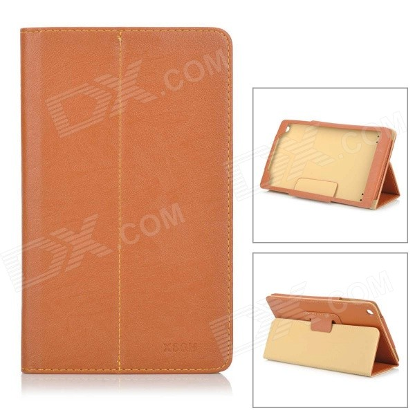 Protective PU Case w/ Stand for Teclast  X80H - Brown