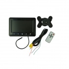 "7"" TFT Color LCD Car Monitor Displayer w/ Stand - Black"