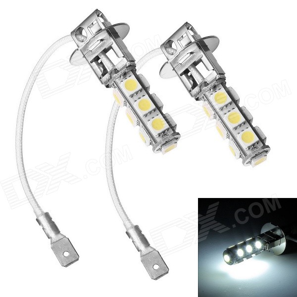 Merdia H3 2W 6500K 90lm 13-5050 SMD LED White Light Car Foglight (12V / 2 PCS)