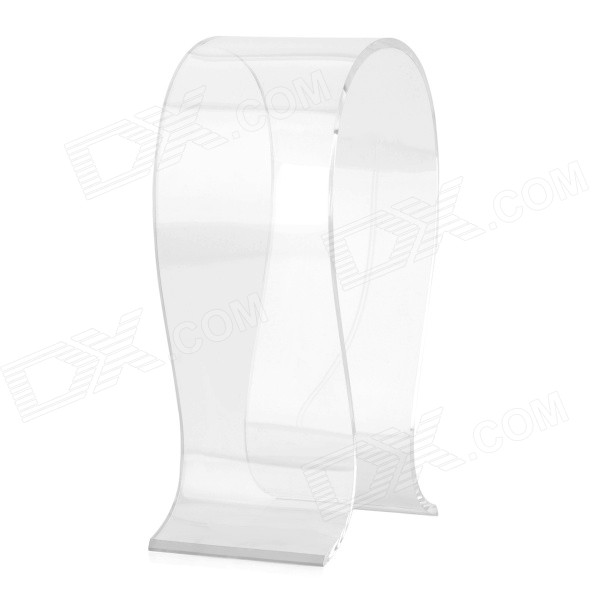 High Quality Acrylic n-Type Headphone Hanger Stand - Transparent