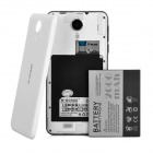 "M-HORSE S80 5.0"" IPS Quad-Core Android 4.4 Smart Phone w/ 1GB RAM, 8GB ROM - White"
