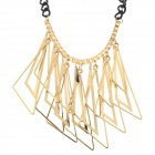 SHIYING W2306 Women's Fashion Irregular Triangle Style Zinc Alloy Pendant Necklace - Golden + Black