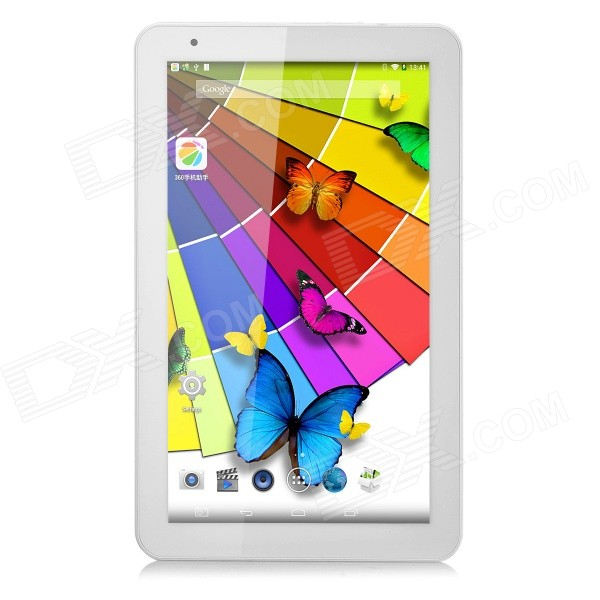 10.1 IPS Quad-Core Android 4.4 Tablet PC w/ 1GB RAM, 8GB ROM, Bluetooth - White sosoon x88 quad core 8 ips android 4 4 tablet pc w 1gb ram 8gb rom hdmi gps bluetooth white