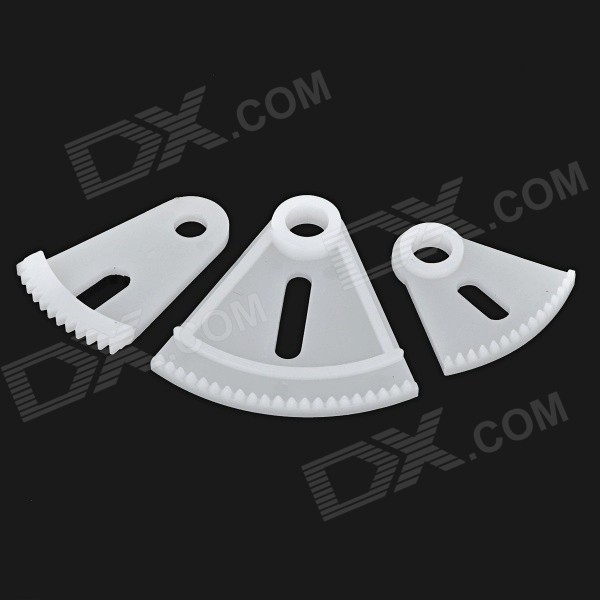 DIY Model Making Plastic Steering Gear - White (3pcs)