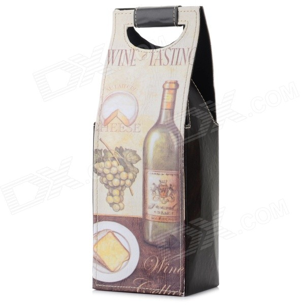 Fashion PU 1-Bottle Wine Bag - Grey + Multi-Color Laredo объявления о покупке
