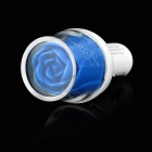 Rose Head Style 3.1A Dual-USB Car Charger Adapter - White + Blue