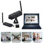DG80-1-P 1/5 CMOS 0.3MP Audio Video Recording 2.4GHz Wireless CCTV Camera Kit w/ Wi-Fi - Black (PAL)