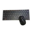 GLK-WMK03BK 2.4GHz Wireless 78-Key Keyboard + Optical Mouse Set - Black