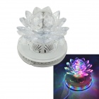 Lotus Style 6W 48 + 3-LED RGB-Licht-Selbstdreh Party / Stadiums-Lampe - Weiß (EU-Stecker)