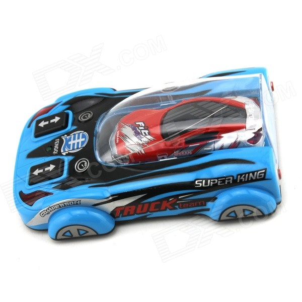 YDL-8805-2 Mini 40MHz 2-CH Remote Control R/C Racing Car - Blue + Red + Multi-Color (2 x AA)