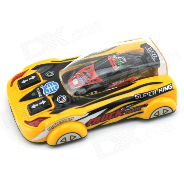 YDL-8805-3 Mini 40MHz 2-CH Remote Control R/C Racing Car - Yellow + Black + Multicolor (2 x AA)