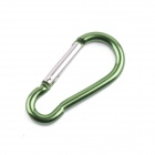 Outdoor Sports Aluminum Alloy Quick-Release Carabiner Keychain Hook - Green