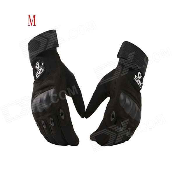 ESDY ESDYM-1 Outdoor Climbing Cycling Anti-Slip Breathable Full-Finger Tactical Gloves - Black (M) esdy esdym 3 outdoor cycling anti slip breathable full finger pu tactical gloves tan m