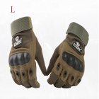 ESDY ESDYL-2 Outdoor Climbing Cycling Anti-Slip Full-Finger PU Tactical Gloves - Army Green (L)