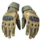 ESDY ESDYM-2 Outdoor Climbing Cycling Anti-Slip Full-Finger PU Tactical Gloves - Army Green (M)