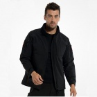 ESDY-0104 Outdoor Sports Wind & Water Resistant Warm Tactical Soft Shell Jacket Coat - Black (L)