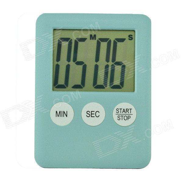 2 LCD Power Saving Digital Timer - Light Blue (1 x LR1130) - DXTimer<br>Color Light Blue Shade Of Color Blue Material ABS + electronic components Quantity 1 Piece Other Features Max. timing range is 99 mins and 99 secs; You can preset time yourself; With switch for energy saving. Packing List 1 x Timer 1 x LR1130 battery<br>
