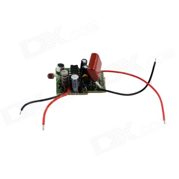 5W AC220V Sound / Light Control Sensor LED Driver - Black + Red