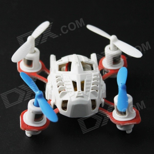 YDL- 9911-2 Super Mini Six Axis 4-CH Gyro 3D 2.4GHz Remote Control Quadcopter - White