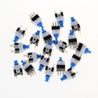 7x7 Double Line Self-lock 6-leg Button Switch (20 PCS)