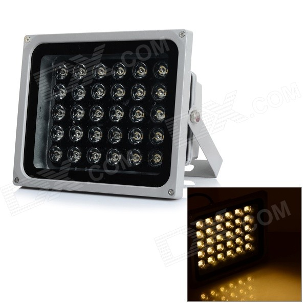 JR-LED Waterproof 30W 3000lm 3200K 30-LED Warm White Spotlight - Silvery Grey + Black (AC 100~240V)