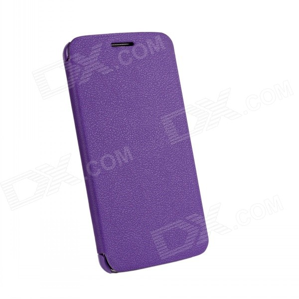Protective PU Leather + PC Flip Open Case for LG Optimus G2 - Purple protective flip open pu leather case for lg optimus g2 d802 f320 black