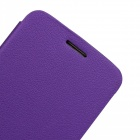 Protective PU Leather + PC Flip Open Case for LG Optimus G2 - Purple