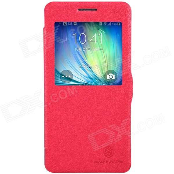 NILLKIN Fresh Series Protective Flip Open PU Leather + PC Case for Samsung Galaxy A5 - Red nillkin fresh series leather case чехол для samsung galaxy s4 active red