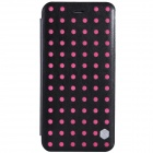 NILLKIN POP Series Protective PU Leather Flip Open Case for IPHONE 6 PLUS - Black + Deep Pink