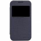 NILLKIN Protective PU Leather + PC Flip Open Case for Samsung G360 - Black