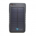 Itian 8000mAh Dustproof Shockproof Water Resistant Li-polymer Battery Solar Power Bank - Black