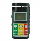 "BT-568 1.5"" LCD Battery Voltage Tester for 1.5V/ 9V Battery - Black"