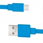 Fonemax X-SYNC USB Male to Micro USB Male Charging Data Cable for Cellphone - Blue