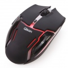 Qisan 2.4G 6-Button Wireless USB LED Gaming Mouse - Svart