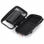 Bicicleta Guiador telefone touch screen instalados Bag Bolsa w / Glare Shield - Preto + Cinza