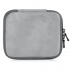 "Protective Faux Suede Bag + Accessory Bag Set for 13.3"" MACBOOK -Grey"