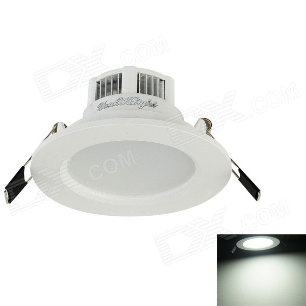 YouOkLight YK0450 3W 300lm 6000K 6-5730 SMD LED White Light Ceiling Lamp - White (AC 90-265V)