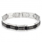 SHIYING SL000064 Men's the Great Wall Design 316L Stainless Steel Bracelet - Black + Silver