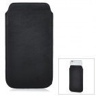 Protective PU Pouch Case w/ Pull Strap for IPHONE 6 PLUS - Black