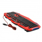 R.Horse RH7490 Professional Gaming Keyboard 112-Key w / rétro-éclairage - rouge + noir