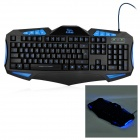 R.Horse RH7490 Professional Gaming 112-Key Keyboard w/ Backlight - Black + Blue