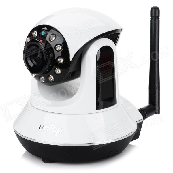 Ontop RT8800-HD P2P 1/4 CMOS Wi-Fi HD Wireless Indoor 1.0MP IP Camera w/ 11-IR-LED - White + Black wanscam jw0004 1 4 cmos 0 3mp wireless p2p indoor ip camera w 13 ir led wi fi white eu plug