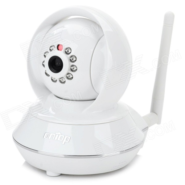 Ontop RT8808-HD P2P 1/4 CMOS Wi-Fi HD Wireless Indoor 1.0MP IP Camera w/ 10-IR-LED - White wanscam jw0004 1 4 cmos 0 3mp wireless p2p indoor ip camera w 13 ir led wi fi white eu plug