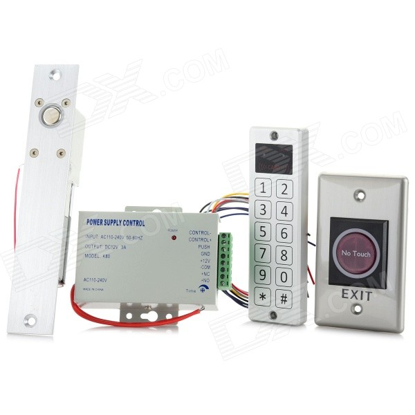 ST206 Soft Touch Piezo Standalone Access Controller Set w/ Power Lock Switch + ID Cards - Silver rfid door waterproof metal access control with touch keypad 125khz 10 rfid keys for door access control system free shipping c10