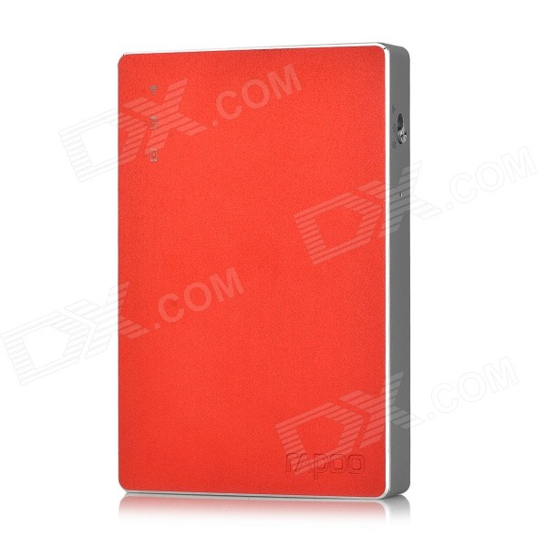 Rapoo D5 Wireless Router / 4000mAh Mobile Power Bank w/ 32GB Memory - Red + Silver