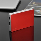 Rapoo D5 Wireless Router / 4000mAh Mobile Power Bank w / 32GB Memory - Rød + Silver