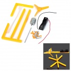 DIY Educational Assembled Plastic Mini Fan - Yellow + Black + White
