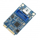 Mini PCI-E to 20-Pin USB 3.0 Adapter Extension Card - Blue + Black