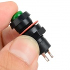 Self-Locking Round Push Button Switches - Red + Green + Black (2 PCS)